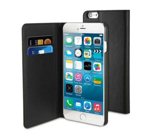 muvit funda Wallet Folio Apple iPhone 6S Plus/6 Plus función soporte negra