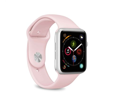 Puro pack 3 correas silicona Apple watch 38-40mm S/M y M/L rosa