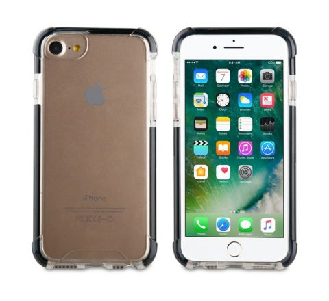 muvit Tiger Hard funda Apple iPhone 8/7 shockproof 3m transparente + borde negro